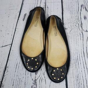 💄Michael Kors Black Leather Top Flats💄